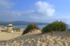 Sand dunes beach,Primorsko Bulgaria Stock Photo