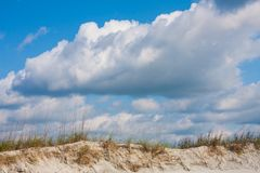 Sand Dunes On The Beach Stock Images