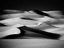 Sand Dunes, black and white version Royalty Free Stock Photos