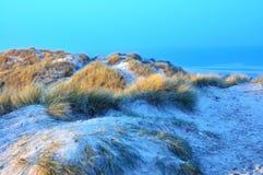 Sand dunes in Blokhus Denmark Stock Photo