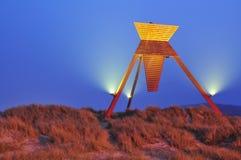 Sand dunes in Blokhus Denmark Stock Image