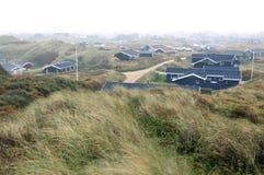 Sand dunes in Blokhus Denmark Stock Photography