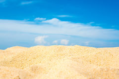 Sand dunes and blue sky. Sand dunes and blue sky background Royalty Free Stock Image