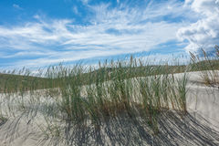 Sand dunes and blue sky. Sand dunes, blue sky, closeup Royalty Free Stock Photos