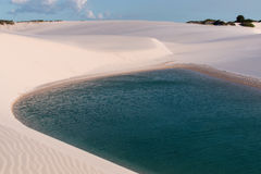Sand Dunes of Brazil. Sand Dunes of Northeast Brazil Known as Lençóis Maranhenses Royalty Free Stock Image