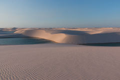Sand Dunes of Brazil. Sand Dunes of Northeast Brazil Known as Lençóis Maranhenses Royalty Free Stock Images