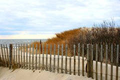 Sand Dunes in Cape May. New Jersey with view of the Atlantic Ocean Stock Photography