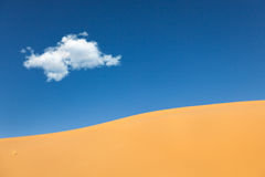 Sand Dunes with cloud desert Royalty Free Stock Photography
