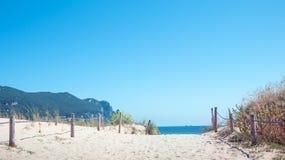 Sand dunes coast Stock Images