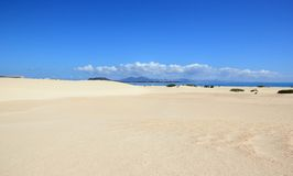 Sand dunes of Corralejo, Fuerteventura, Canary Islands. Royalty Free Stock Photos