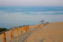 Sand dunes on the Curonian Spit in Lithuania stock image