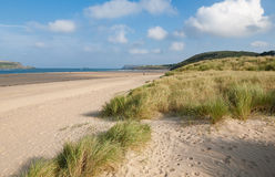 Sand Dunes at Daymer Bay on the Camel Estuary, Cornwall, England Stock Photo