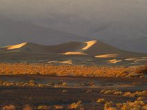 Sand dunes at Death Valley, California Stock Photography
