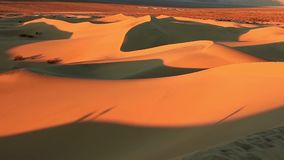 Sand Dunes in the Death Valley, California, USA stock footage