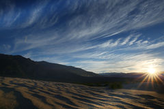 Sand dunes, Death Valley National Park. Royalty Free Stock Photo