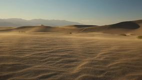 Sand dunes in Death Valley stock footage