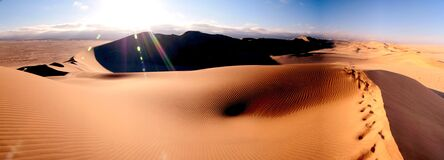 Sand dunes in the desert Stock Image