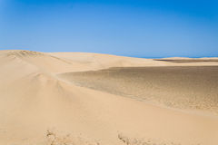 Sand dunes of desert of desert Royalty Free Stock Photo