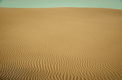 Sand dunes of desert Royalty Free Stock Images