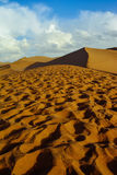 Sand dunes in desert-Dunhuang,China royalty free stock photo