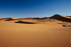 Sand dunes in desert landscape of Namib Royalty Free Stock Photos
