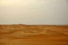Sand dunes in desert Royalty Free Stock Photo