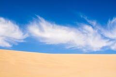 Sand dunes in the desert taken in Mingsha Shan, Dunhuang, Gansu Royalty Free Stock Photography