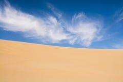 Sand dunes in the desert taken in Mingsha Shan, Dunhuang, Gansu Royalty Free Stock Photo