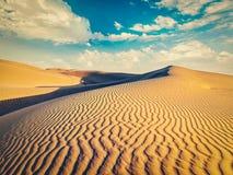 Sand dunes in desert Royalty Free Stock Photos