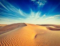Sand dunes in desert Royalty Free Stock Images