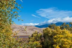 Great Sand Dunes National Park. Sand dunes from a distance in Colorado Royalty Free Stock Image