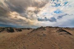 Sand dunes on the beach, California coastline stock photos
