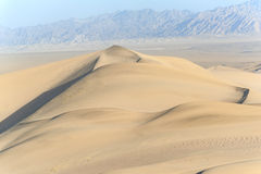 Sand dunes in Dunhuang. China Royalty Free Stock Image