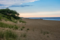 Sand Dunes at Dusk Royalty Free Stock Images
