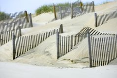Sand dunes for environment on the beach Royalty Free Stock Image