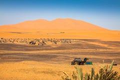 Sand Dunes of Erg Chebbi int he Sahara Desert, Morocco Stock Image