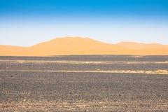 Sand Dunes of Erg Chebbi int he Sahara Desert, Morocco.  Royalty Free Stock Image