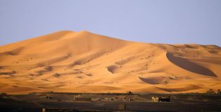 Sand dunes in Erg Chebbi Stock Photo