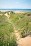 Sand dunes of Formby beach near Liverpool, UK Stock Image