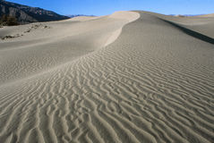 Sand Dunes. General view of Sand dunes patterns at Death Valley, California royalty free stock photos