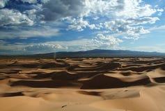 Sand dunes in gobi desert Stock Image