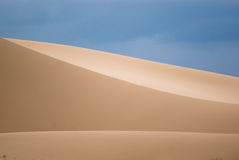 Sand dunes in Gobi desert. Royalty Free Stock Image