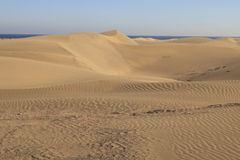 Sand dunes gran canaria Royalty Free Stock Photography