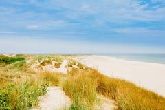 Sand dunes at Grenen in Skagen Denmark. The coastline of Skagen in Jutland Denmark Royalty Free Stock Image