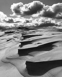 Sand dunes. Hat head national park abstract shadows and sky clouds in black and white Stock Photo