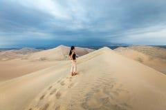 Sand dunes in Huacachina desert, Ica Region Royalty Free Stock Image