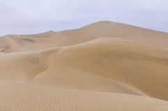 Sand dunes in the Huacachina desert, Peru Royalty Free Stock Photos
