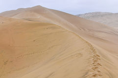 Sand dunes in the Huacachina desert, Peru Royalty Free Stock Images
