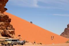 Sand-dunes In Wadi-Rum Desert, Jordan, Middle East Stock Photos