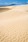Sand dunes and lake Stock Images